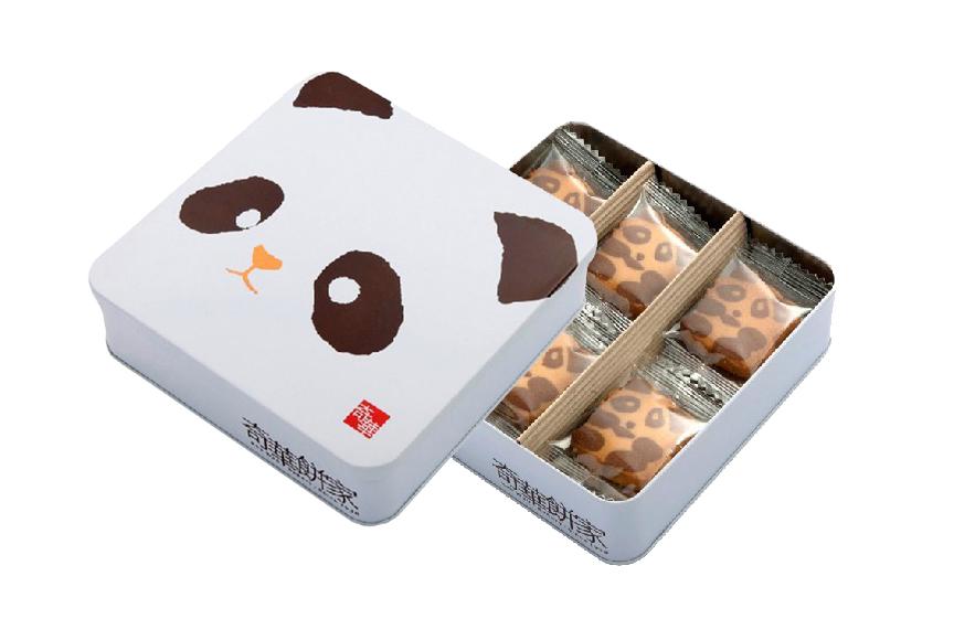 香港奇华饼家熊猫曲奇饼干礼盒装 原装进口
