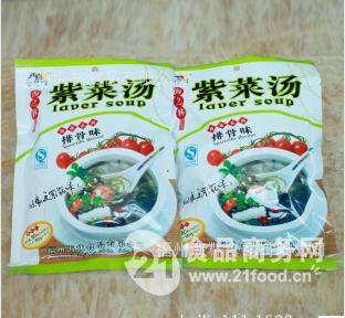 供应金海林牌72G紫菜汤  排骨味