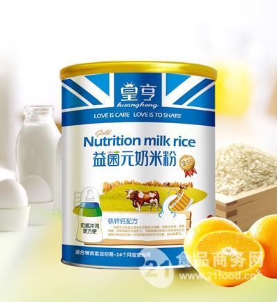 益菌元奶米粉铁锌钙-518g