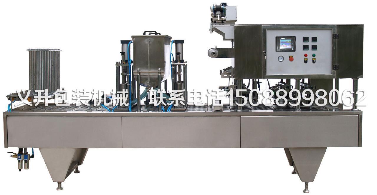 碗纸桶封盖机是用于生产方便面,粉丝等食品封装于纸碗式塑碗中的机械.