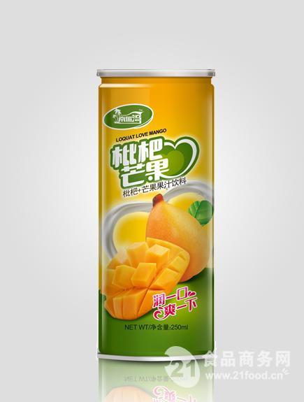枇杷爱芒果果汁饮料
