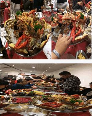 丰盛的海鲜大餐结束我们的巴黎之行