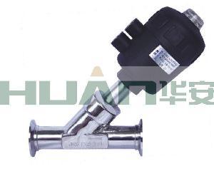 不锈钢气动卡箍角座阀(塑料头)