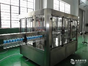 4000瓶冲瓶、灌装、封盖液体灌装机