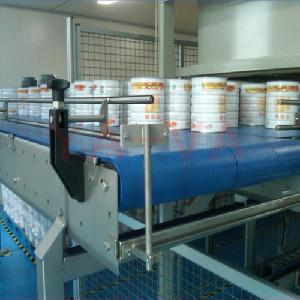 奶粉输送生产线 输送灌装奶粉网带输送机