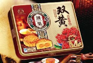 粤皇诚果双黄白莲蓉组合月饼600克