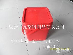 15L方形塑料桶