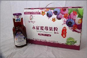 野生蓝莓果粒饮料