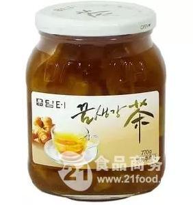韩国原装进口丹特蜂蜜生姜茶770g