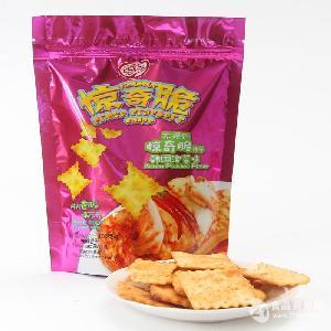 100g袋装韩国泡菜味惊奇脆饼干*亿智食品