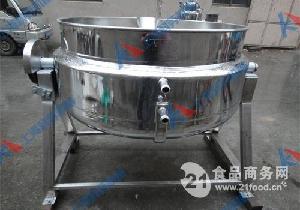 平底蒸汽可倾式夹层锅