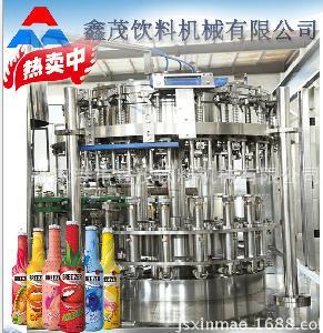 自动果汁茶饮料热灌装三合一生产线