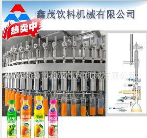 全自动果汁茶饮热灌装三合一生产流水线设备