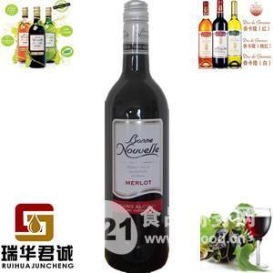 法国伯尼努瓦勒梅洛脱醇干红葡萄酒