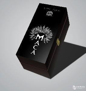 黑色牛皮纸玛咖酒礼盒单支装750ml