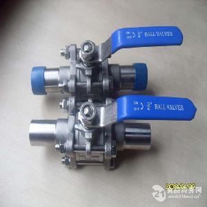 不锈钢三片式加长自动焊球阀规格配套洁净管道