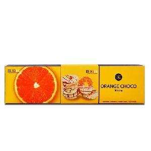 济州之吻香橙片白巧克力脆片长盒72g