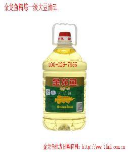 金龙鱼食用油精炼一级大豆油5L