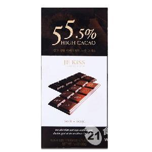 济州之吻排装55.5%黑巧克力40g
