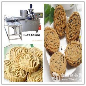 玉林炒米饼机厂家商用全自动仿手工夹心粉印饼机PLS-03