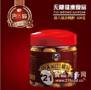 唐人福木糖醇合桃酥(软塑桶装)