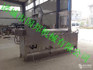 厂家生产国邦牌网带式导热油炉加热油炸机