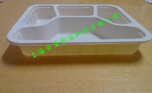 环保四格餐盒适合封口盒一次性包装盒