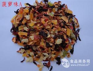 菠萝味果粒茶