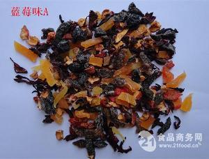 厂家大量供应蓝莓味花果粒果茶OEM贴牌加工