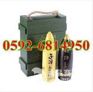 2瓶木盒装台湾金门子炮弹高粱酒