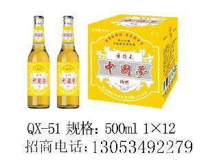 诚招新品500毫升中国梦啤酒代理商