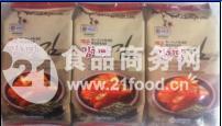 韩美味辣泡菜味海苔4g*3包