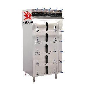 酒店快餐厨具设备五门蒸汽柜