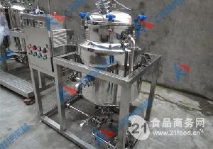 上海科劳机械双罐鲜奶吧巴氏杀菌机