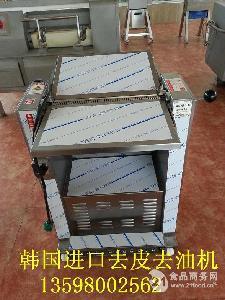 LIU-435猪肉扒皮机 全自动猪肉去皮机 槽头肉剥皮机