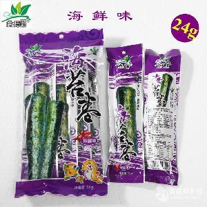 食得福24g袋装海鲜味海苔卷