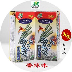 食得福36g盒装香辣味海苔卷
