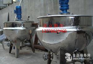 南京厂家供应200升导热油夹套加热夹层锅