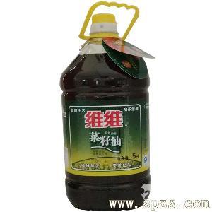 维维5L非转基因压榨浓香菜籽油