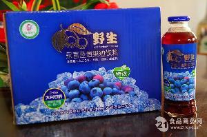 永富牌蓝莓果粒饮料420ml*12瓶