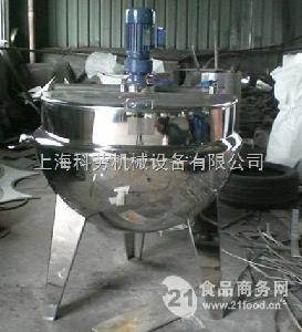 直立式带搅拌夹层锅