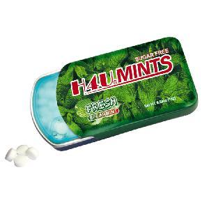 贴牌加工留兰香味推拉铁盒无糖薄荷糖15g