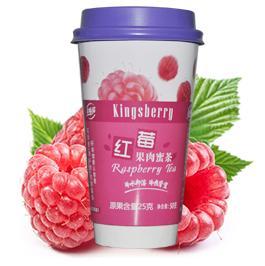 红莓果肉蜜茶