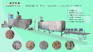双螺杆膨化大豆组织蛋白生产设备生产线