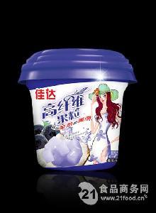 休闲食品高纤维果粒杯蓝莓味