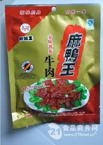 80g麻鸭王泰味酱板牛肉