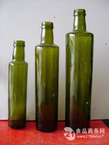 供应墨绿色橄榄油玻璃瓶