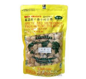 供应批发香辛调味料【绿环牌】袋装500g石栗肉/Candle-nut whole  1袋起售10箱起批
