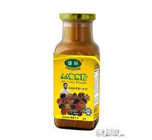 供应批发香辛调味料【绿环牌】瓶装350g AA咖哩粉/AACurry powder 1瓶起售10箱起批