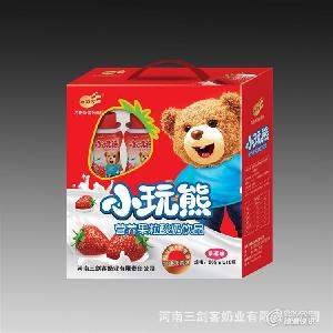 小玩熊儿童营养果粒酸奶